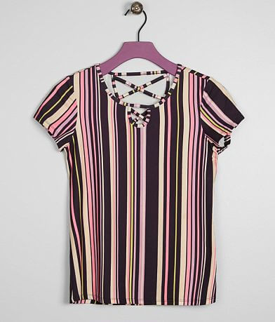 Girls - Daytrip Striped Faux Suede Top