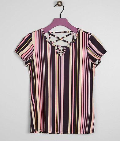ae6e53e551ecd Girls - Daytrip Striped Faux Suede Top