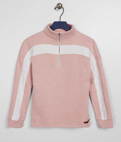 Girls - BKE Heathered Quarter Zip Pullover