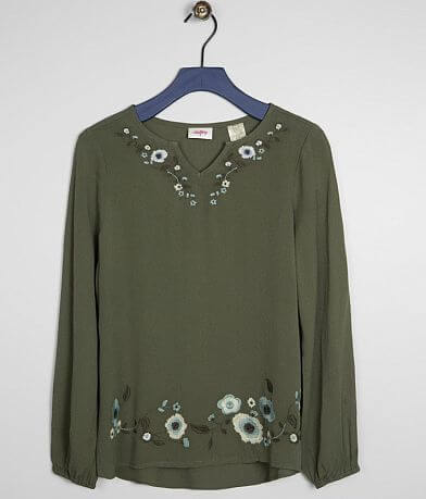 Girls - Daytrip Embroidered Floral Top