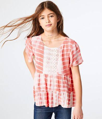 Girls - Daytrip Crinkle Tie Dye Top