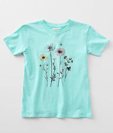 Girls - Modish Rebel Wildflowers T-Shirt