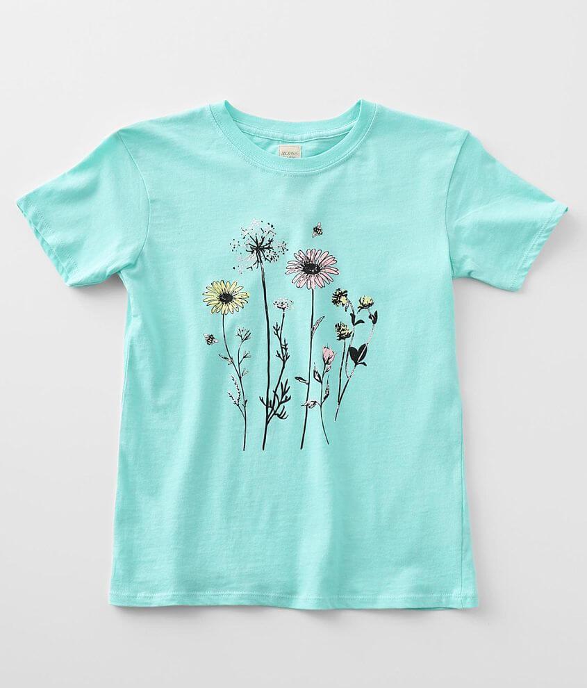 Girls - Modish Rebel Wildflowers T-Shirt front view