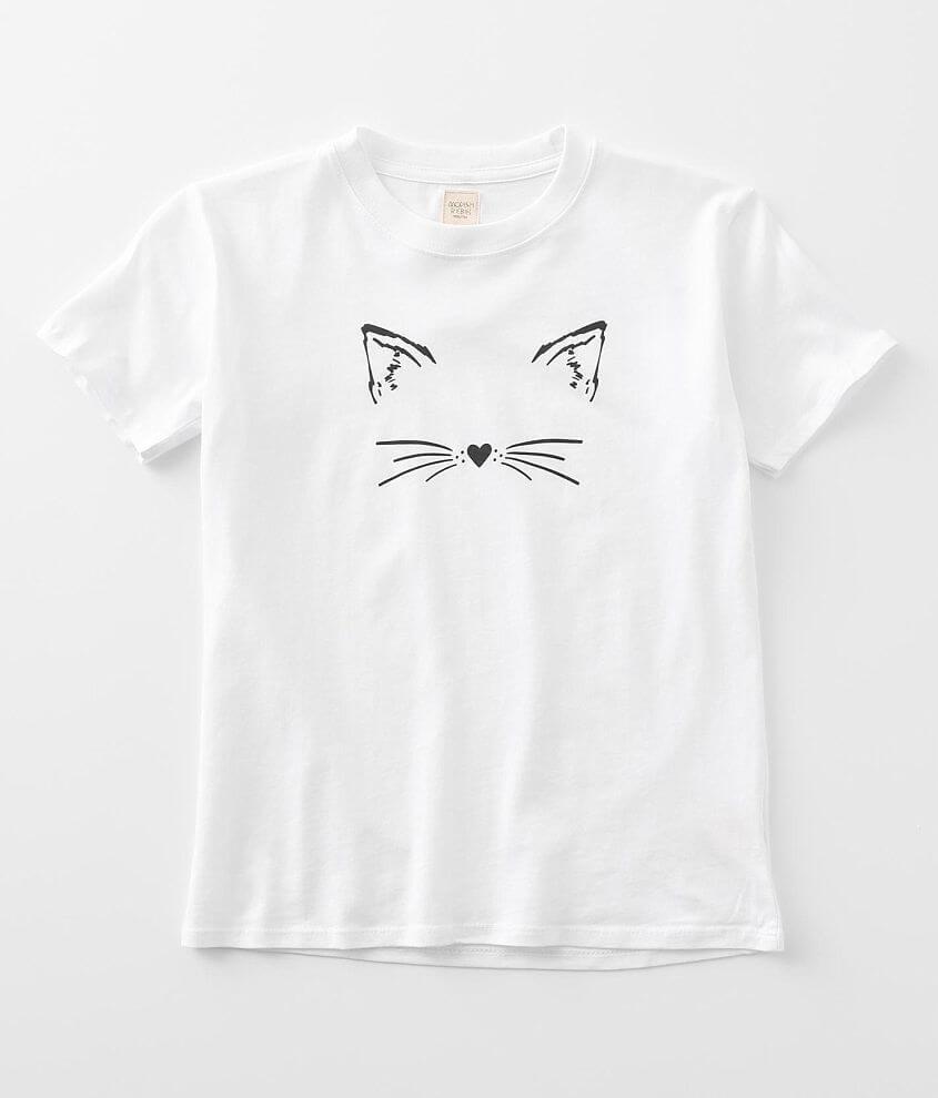 Girls - Modish Rebel Cat Face T-Shirt front view