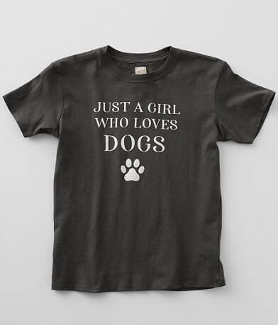 Girls - Modish Rebel A Girl Who Loves Dogs T-Shirt