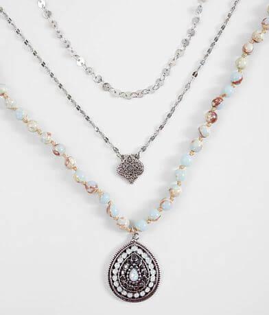 BKE Beaded Pendant Necklace Set