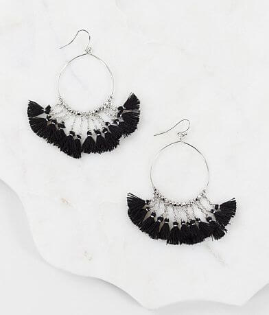BKE Bead & Chain Tassel Earring