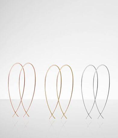 BKE Oblong Trio Earring Set