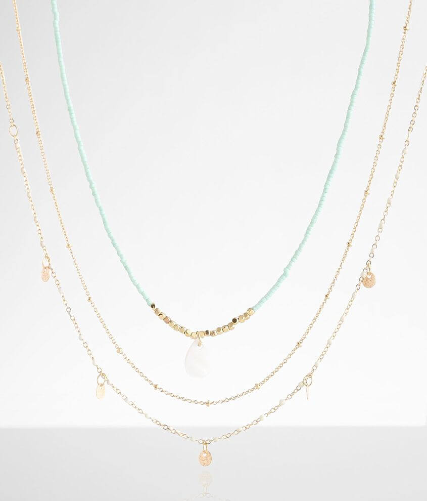 BKE 3 Pack Beaded Necklace Set front view
