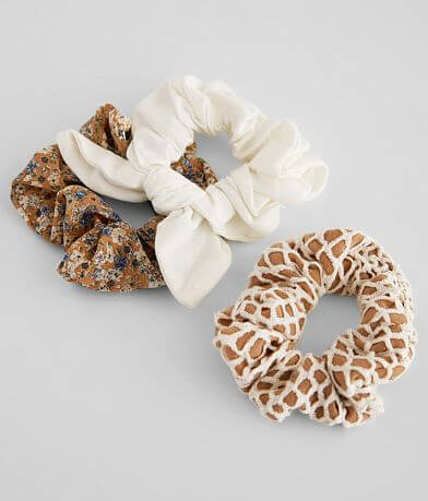 Assorted Three Pack Scrunchies