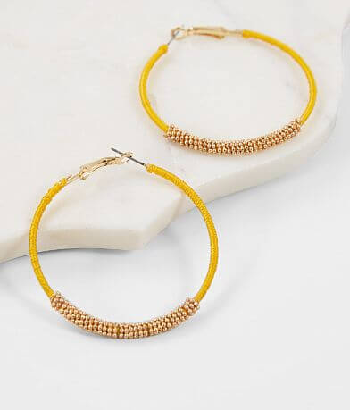 BKE Thread Wrapped Hoop Earring