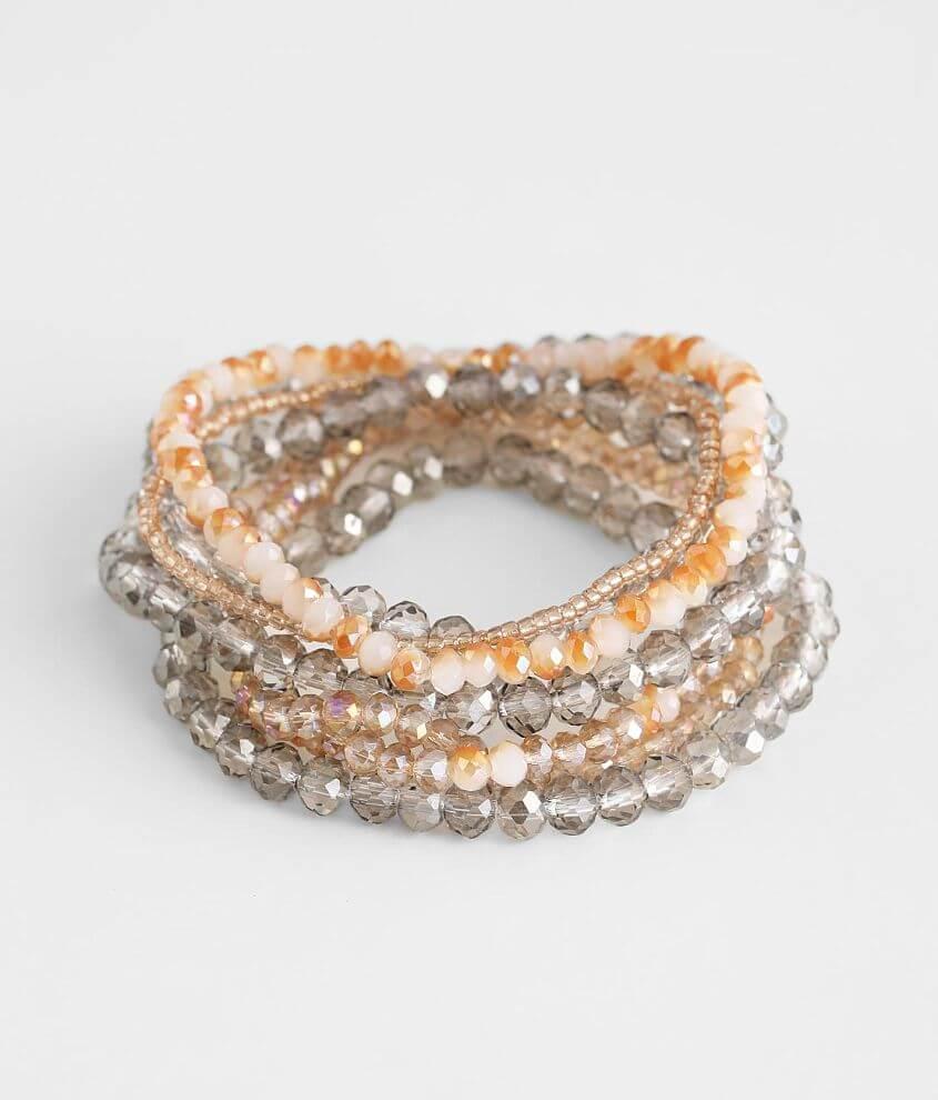 BKE 7 Pack Beaded Bracelet Set front view