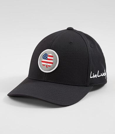 Black Clover USA Flag Nation Flexfit Hat