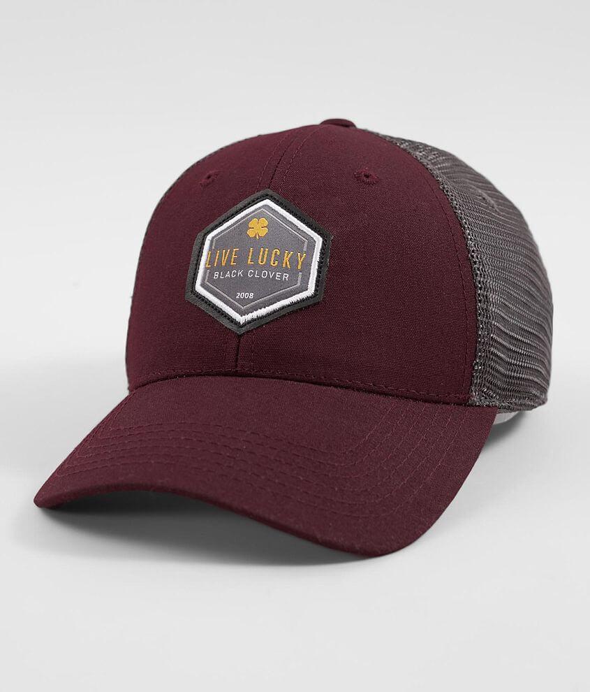 Black Clover High Tride Trucker Hat - Men s Hats in Maroon  03f76a78d6e