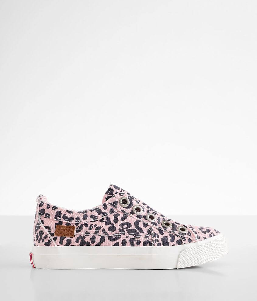 Girls - Blowfish Play Leopard Sneaker front view