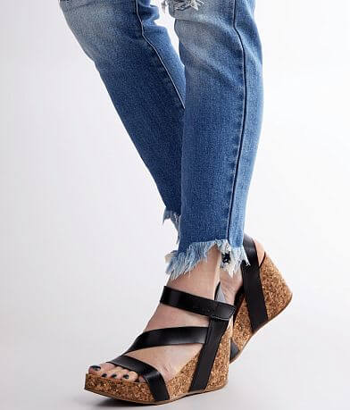 Blowfish Hapaku Cork Wedge Sandal