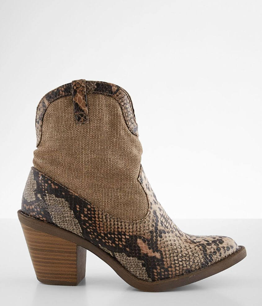 Blowfish Lolly Snake Print Heeled Ankle Boot front view