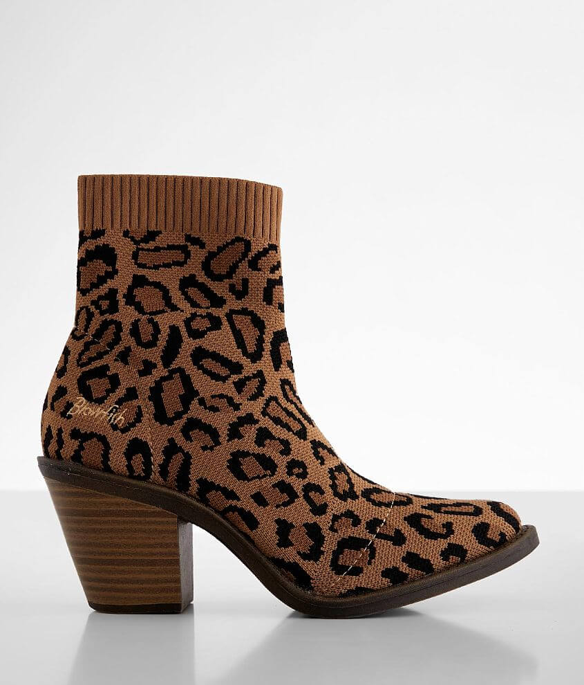 Blowfish Lukey Cheetah Print Ankle Boot front view