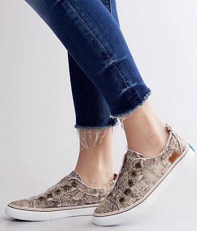 Blowfish Play Linen Snake Print Shoe