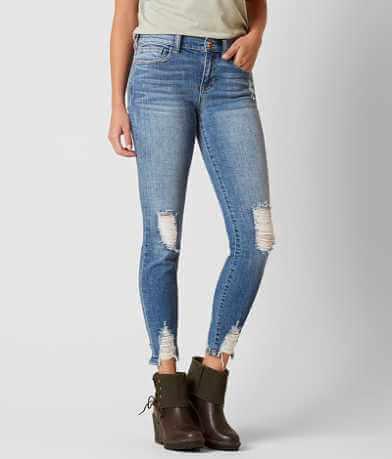 Sneak Peek Mid-Rise Ankle Skinny Stretch Jean