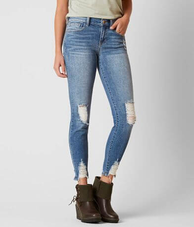 Sneak Peek Mid-Rise Ankle Skinny Stretch Jean