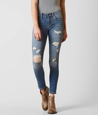 Sneak Peek Low Rise Ankle Skinny Stretch Jean