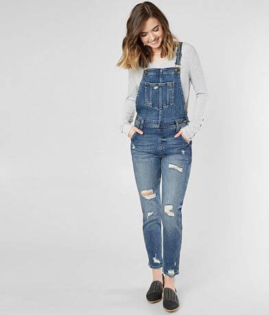 Sneak Peek High Rise Denim Stretch Overalls