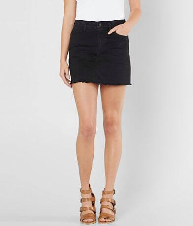 Sneak Peek High Rise Denim Stretch Skirt