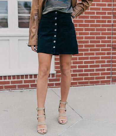 Sneak Peek High Rise Corduroy Stretch Skirt