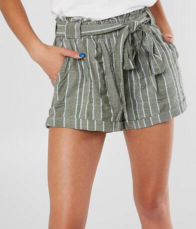 Sneak Peek Striped Paperbag Fashion Short