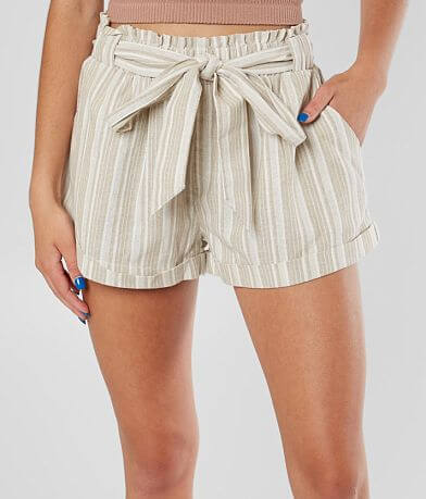 Sneak Peek Woven Paperbag Cuffed Short