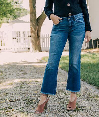 Sneak Peek Mid-Rise Straight Cropped Flare Jean