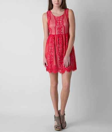 Blu Pepper Eyelash Lace Dress