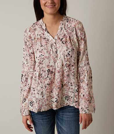 Blu Pepper Printed Henley Top