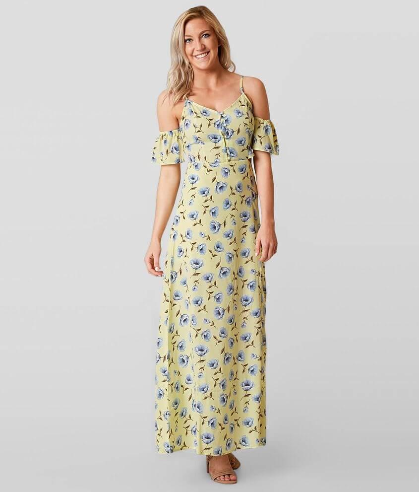 Blu Pepper Floral Maxi Dress front view