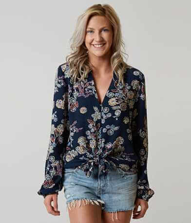 Blu Pepper Floral Shirt