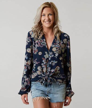 Blu Pepper Floral Shirt
