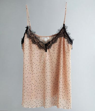 By The River Polka Dot Crinkle Tank Top