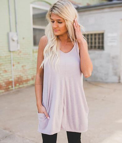 Blu Pepper Double V-Neck Tunic Tank Top