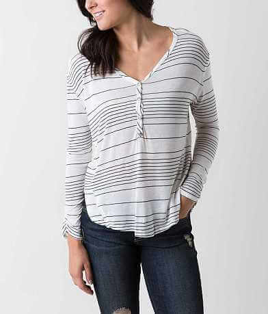 Blu Pepper Striped Henley Top