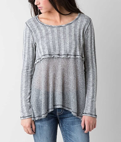 Blu Pepper Raw Edge Sweater