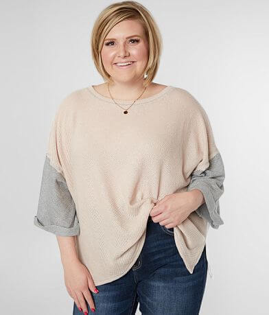 Blu Pepper Color Block Top - Plus Size Only