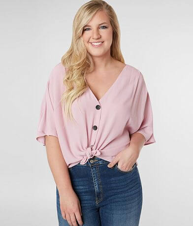 perch Woven Blouse - Plus Size Only