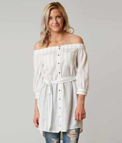 Sweet Wanderer Off The Shoulder Tunic Top