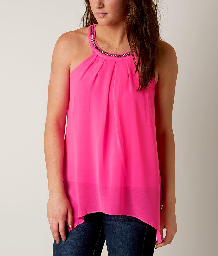 Mine High Neck Tank Top front view