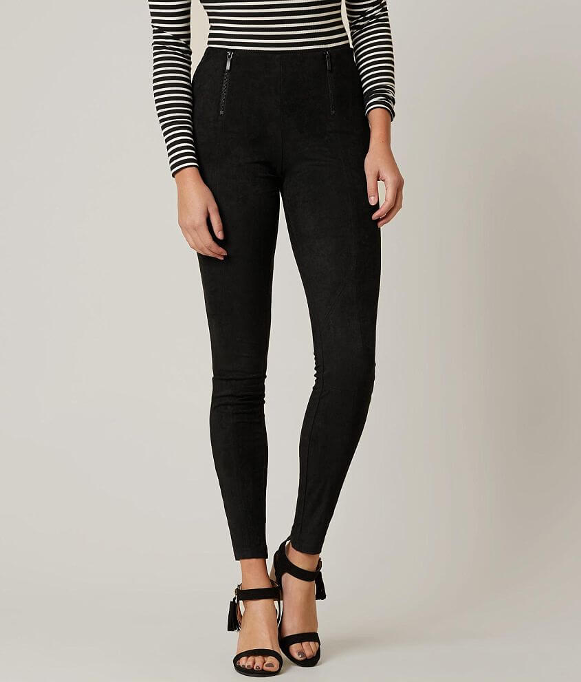 f64094ad0062f Daytrip Skinny Faux Suede Legging - Women's Pants in Black | Buckle
