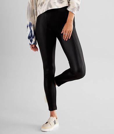 BKE High Rise Faux Leather Stretch Legging