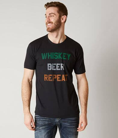 Body Rags Whiskey Beer Repeat T-Shirt