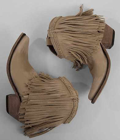Liberty Black Fringe Cowboy Ankle Boot