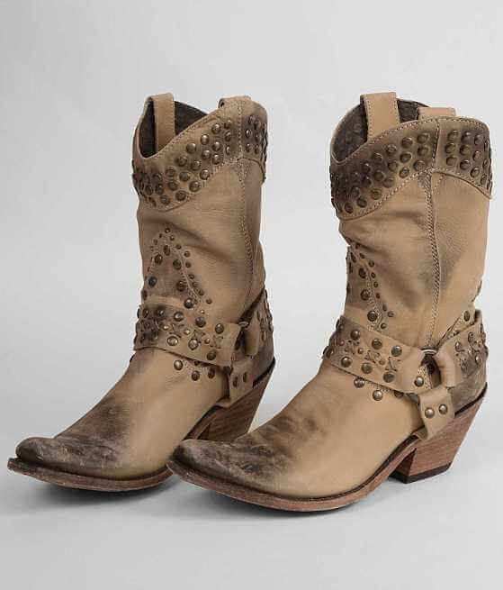 Liberty Black Studded Cowboy Boot - Women's Shoes in | Buckle